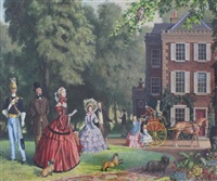 victorians in a garden by john leigh-pemberton