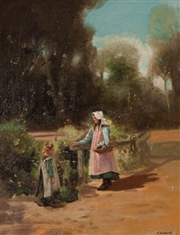 flower picking by john lochhead