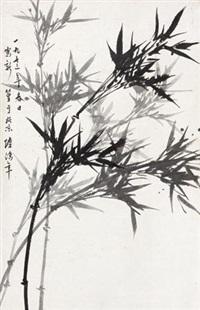 新篁 (bamboos) by lu hongnian