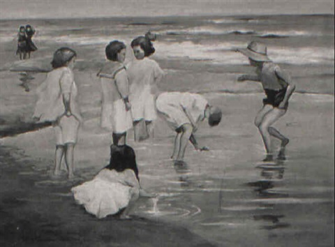 children on the beach by robert hartley cameron