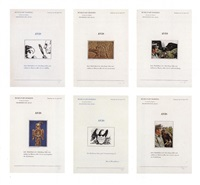 six lettres ouvertes avis (set of 6) by marcel broodthaers