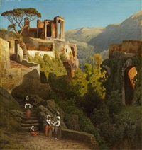 the temple of vesta at tivoli by carl jungheim