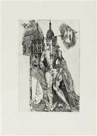 der spiegel des dorian gray (portfolio of 9 works w/ text) by helmut leherb