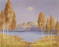 sommerliche seelandschaft by walter bollier