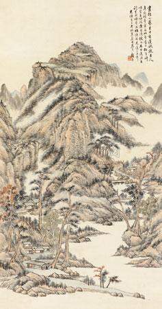 临王麓台山水 landscape by gu yun