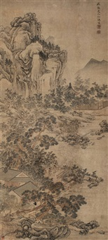 有竹山庄图 (landscape) by leng qian