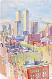 new york by maria lassnig