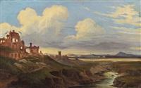 italian landscape (study) by johann wilhelm schirmer