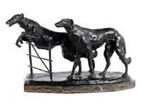 zwei windhunde by rudolf kaesbach
