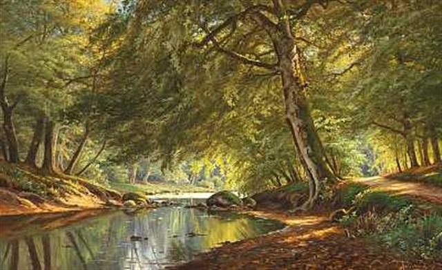 åløb gennem forårsskoven by august jacobsen