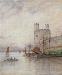 castle harbor by adolphe ragon