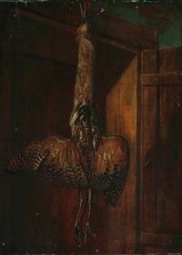 an rahmen hängende, erlegte grosstrappe (+ another; pair) by jacob samuel beck
