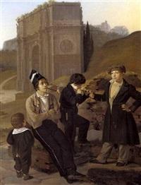 drenge, der ryger tobak, scene fra rom by detlev konrad blunck