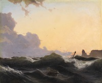 stormy sea by andreas achenbach