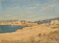 bord de mer, environs de marseille by louis alexandre cabié