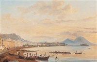 view of naples by jacob george strutt
