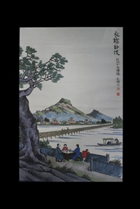 chinese landscape painting by feng zikai