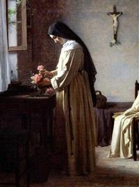 en nonne om morgenen i sin celle by henrik benedikt olrik