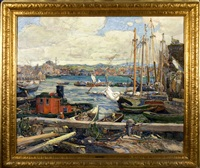 gloucester harbor by john g. alden