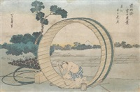 fujimi field in owari province (from thirty-six views of mount fugji) by katsushika hokusai
