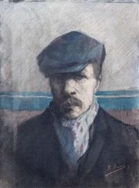 portrait d'un homme avec casque by kurt peiser