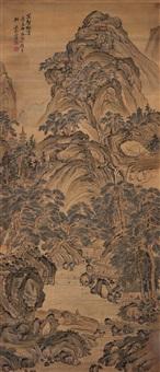 万壑松涛 (landscape) by xu dan