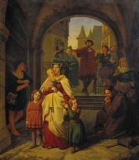 vertreibung der hl. elisabeth von der wartburg by carl fielgraf
