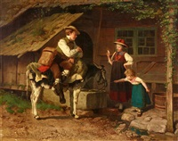 The Mirror Seller (Black Forest Genre Scene), 1873