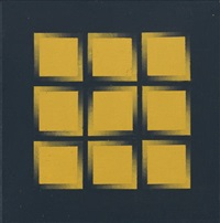 o-d gelb-schwarz / o-d schwarz-gelb (orthogonal diagonal) (2 works) by rudolf vombek