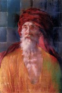 porträt eines arabischen mullahs by konrad filip