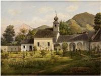 friedhofskirche von st. gallen by joseph langl