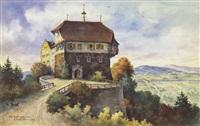 schloss wellenberg - wellhausen (+ portfolio w/exlibris, lrgr) by ulrich gutersohn