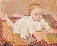 portrait of a baby by john duncan