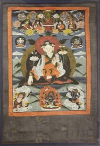 chinese framed tibetan tangka,qing dynasty by anonymous-chinese (qing dynasty)