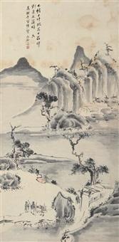 秋山遇友图 (landscape) by ming jian