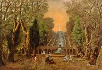 in den gärten der villa d'este by albert arnz