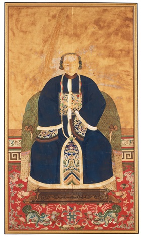 a mandarin with consort by anonymous chinese qing dynasty