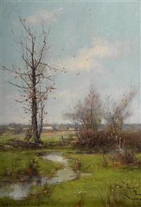 spring landscape by dubois fenelon hasbrouck