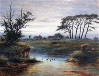 ducks on a river by frederick miller