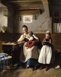 the caring mother by franz meyerheim
