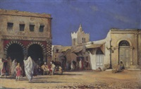 strassenszene in tunis by anton robert leinweber