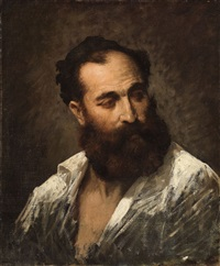 a portrait of a man by french school