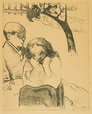 misères humaines from 10 zincographies by paul gauguin