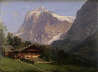 grindelwald mit wetterhorn by eduard buhler