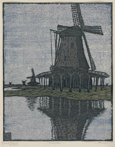 windmühlen by carl theodor thiemann