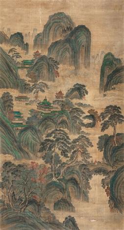 仙山楼阁图 landscape by qiu ying