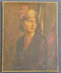 portrait of a lady wearing a straw hat by robin guthrie