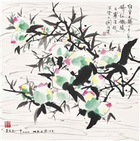 peaches by wu guanzhong