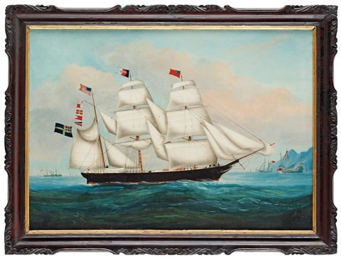 the ship falco outside hong kong by anonymous chinese qing dynasty