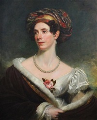 portrait of charlotte, countess of surrey by henry william pickersgill